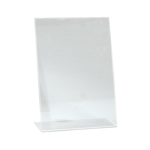 A4 Portrait Angled Acrylic Sign Holder Single Sided Display