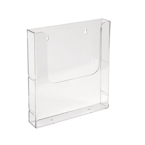 Single A4 Brochure Holder Wall Mounted 250h x 225w x 45d