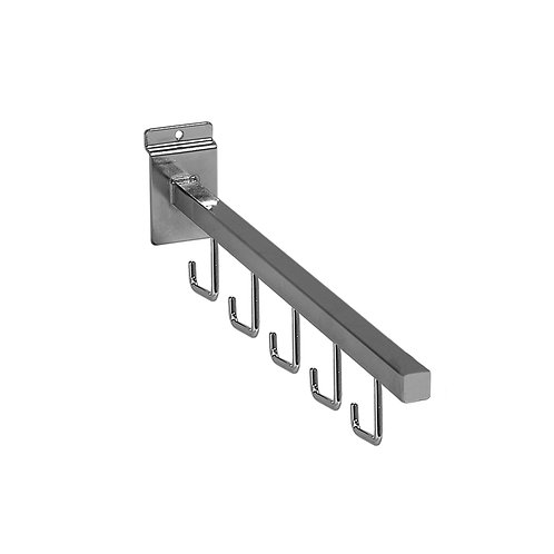 Slatwall 400mm Straight Arm with 5 Hooks