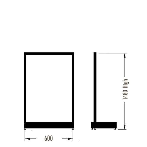 MAXe Single Sided Starter Bay Kit 600w x 1480h