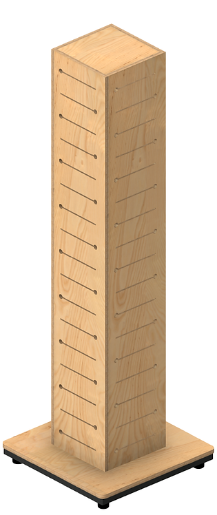 Plywood Pop Slot Totem Pole