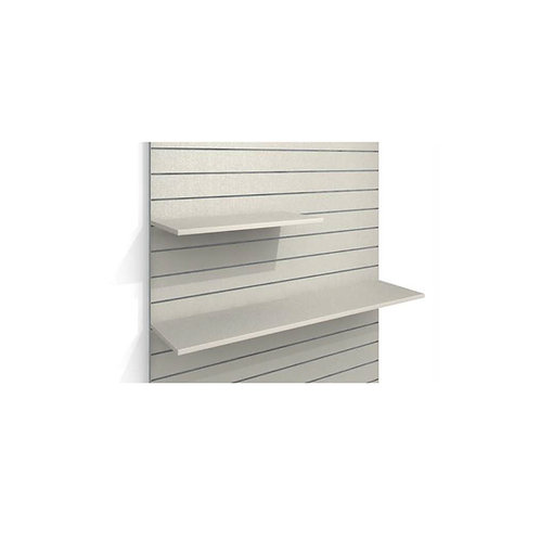 White Laminate Shelf with Brackets