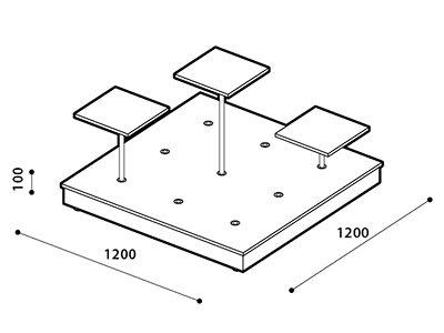 Puk Floor Stand Base (24-DIY)