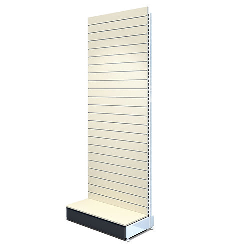 Freestanding Slatwall 1200w x 2400h with 400d Base Plinth - Starter Bay