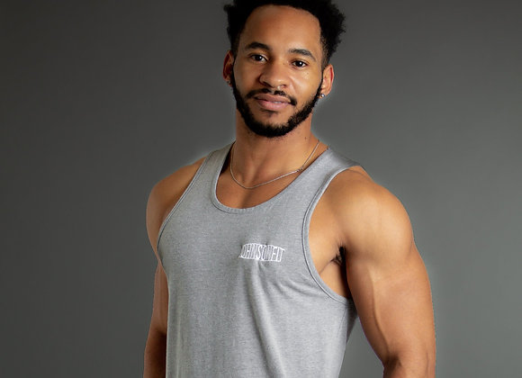 Embroidered Grey CVC Tank