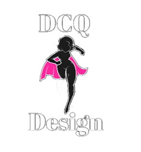 DCQ pink cape heroine logo for the design division