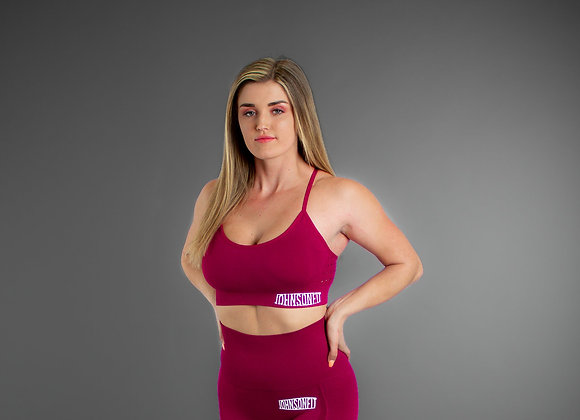 Adele Seamless Raspberry Sports Bra