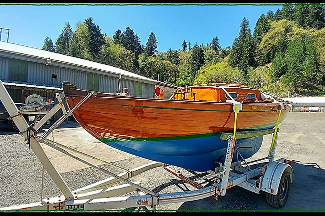 Teak Lady Sailboat