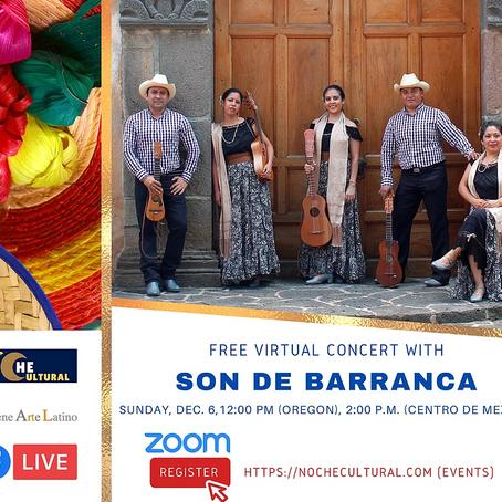Free Virtual Concert with Son de Barranca
