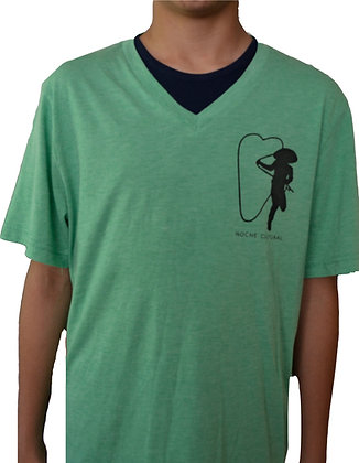 T-Shirt Green Triblend (V-neck) / Camista Cuello V color Verde