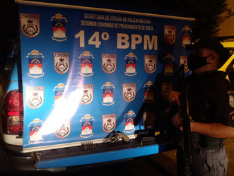 PM coíbe eventos em Bangu e homem é preso com arma