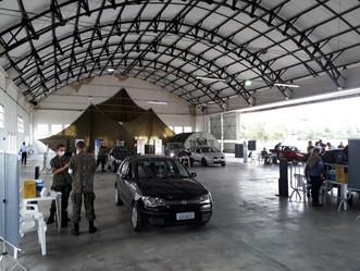 Museu Aeroespacial do Campo dos Afonsos vira ponto drive-thru de vacinação contra Covid-19