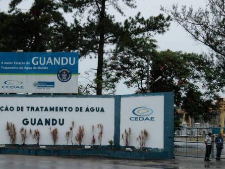 Guandu é paralisado para evitar a proliferação de geosmina e Cedae recomenda economizar água