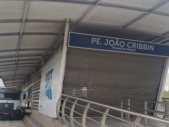BRT informa que estação Padre João Cribbin tem data prevista para reabrir