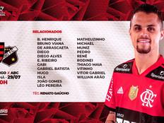 Flamengo x ABC: veja onde assistir, escalações, desfalques e arbitragem