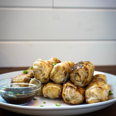 Fried Vegan Chinese Egg Rolls