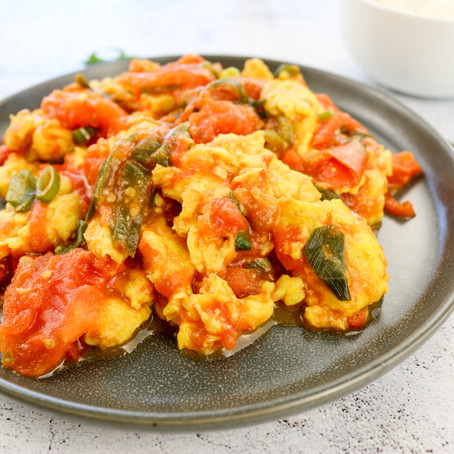 Vegan Chinese Tomato & Egg Stir-Fry