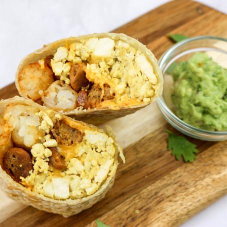 Hearty Vegan Breakfast Burritos (Gluten-Free)