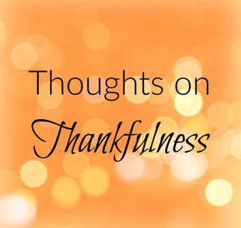 Gratitude & Thankfulness