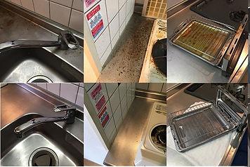 油汚れは酸化すると食器洗い洗剤では取れなくなります。清掃業者の油用洗剤でしっかりと取る必要があります。