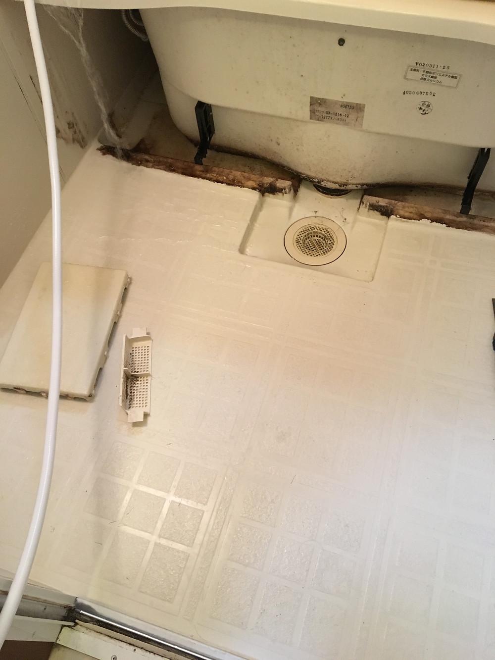 浴室床・エアコン内部