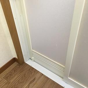 浴室ドア(通気口)清掃後