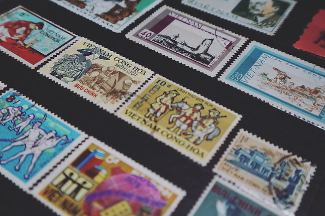 Canva - Assorted-colored Vietnam Postage
