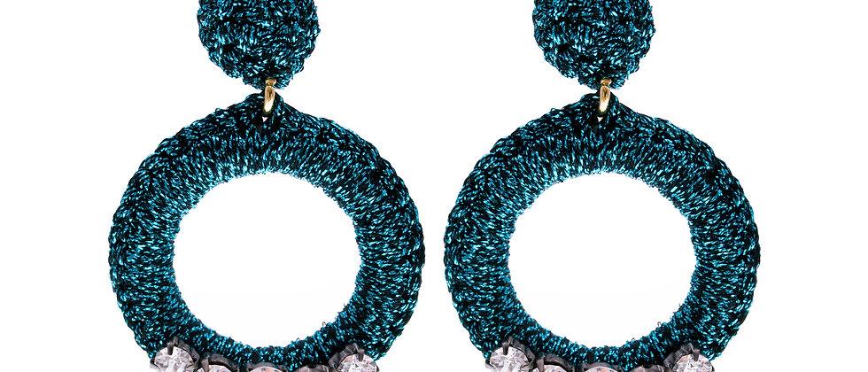 Amelie Jewelry Peninah Earrings Blue