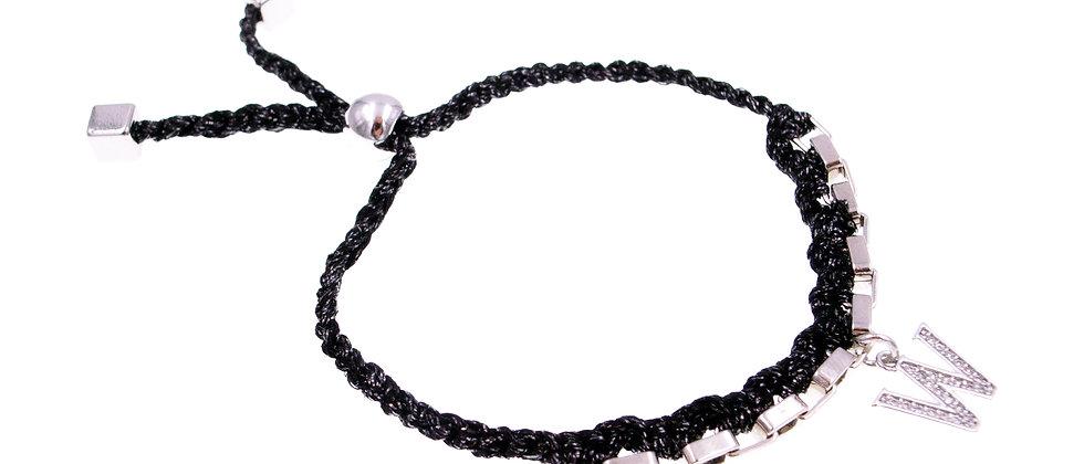 """Amelie Jewelry Initial """" W """" Friendship Bracelet"""