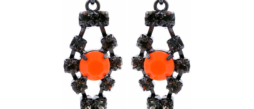 Euphraxia Earrings Orange