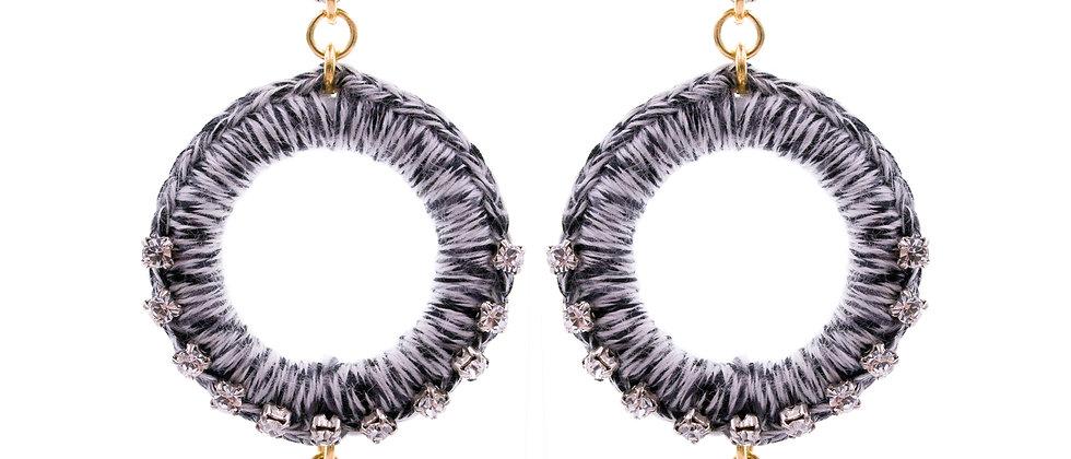 Amelie Jewelry Deborah Earrings Black/White