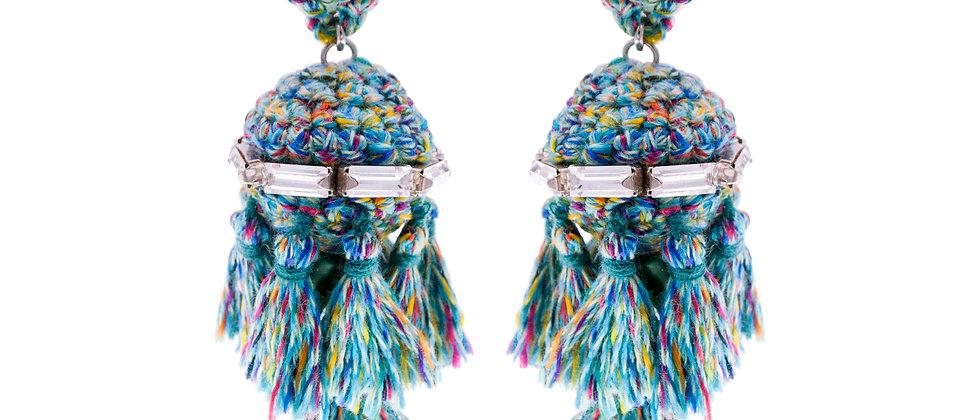 Amelie Jewelry Jemima Earrings Green