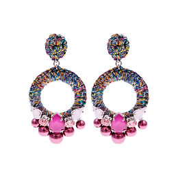 Aaliyah Earrings Pink