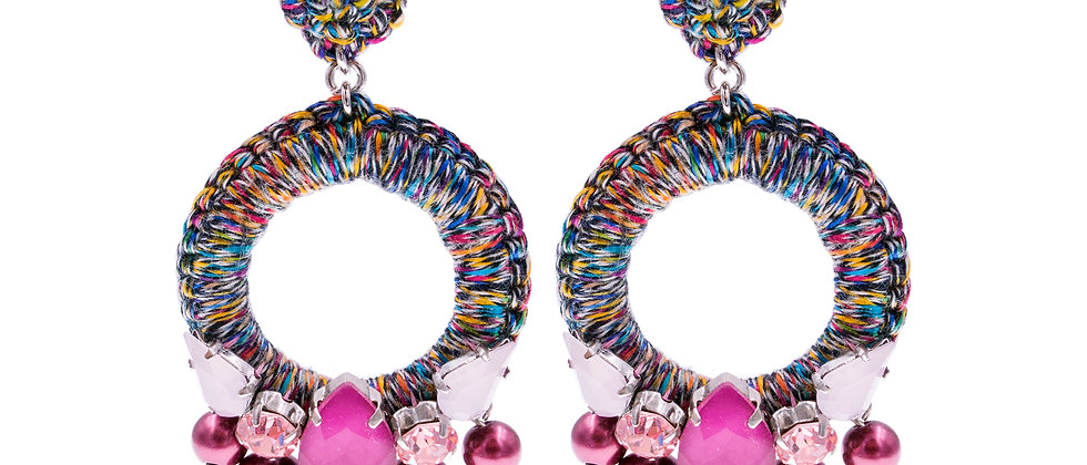 Amelie Jewelry Aaliyah Earrings Pink