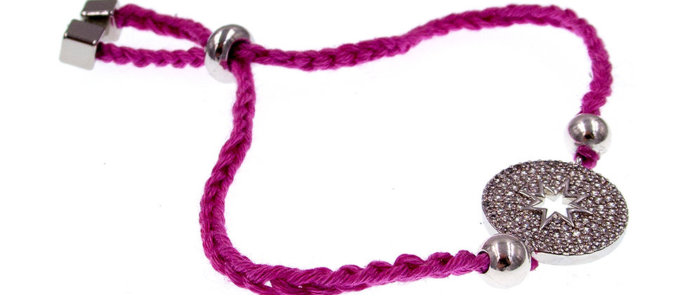 Amelie Jewelry Zirconia Star Friendship Bracelet Pink