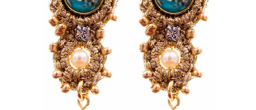 Amelie Jewelry Bathsheba Earrings Blue