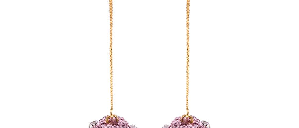 Amelie Jewelry Zilpah Earrings Pink