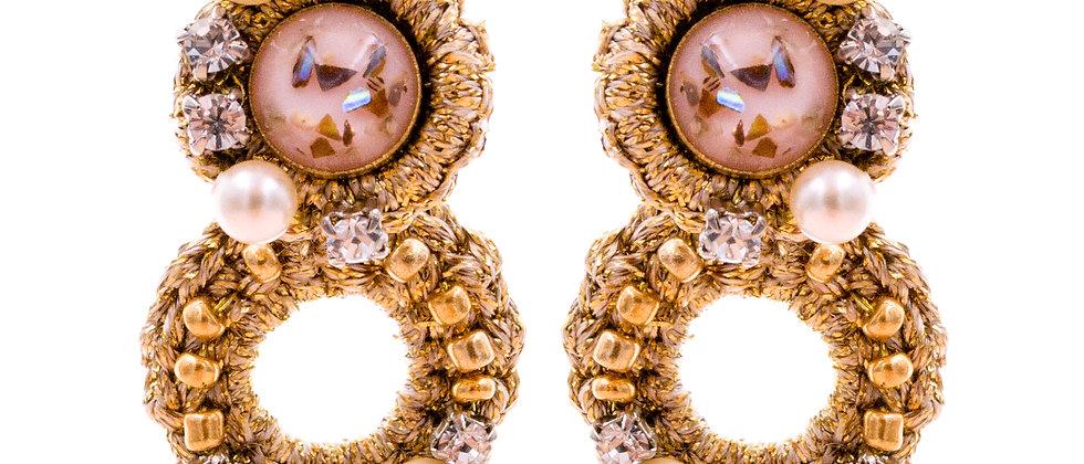 Amelie Jewelry Galilee Earrings Pink