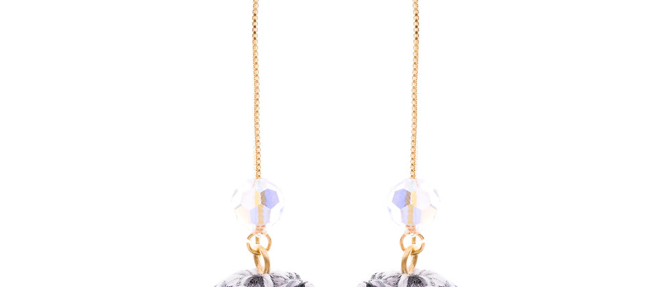 Amelie Jewelry Tabitha Earrings Black/White