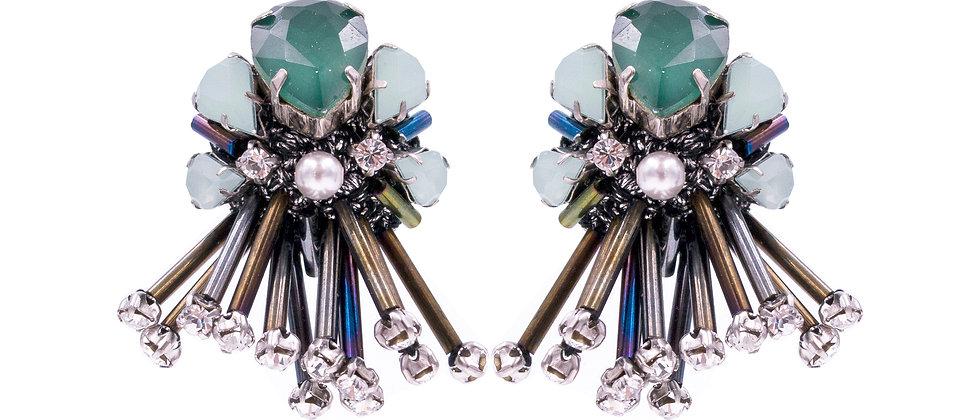 Theodora Earrings Green