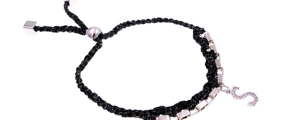 """Amelie Jewelry Initial """" S """" Friendship Bracelet"""