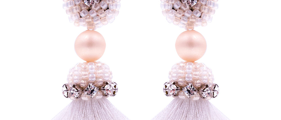 Anastasia Earrings White
