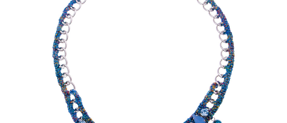 Amelie Jewelry Aaliyah Necklace Blue