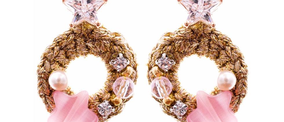 Amelie Jewelry Sapphira Earrings Pink