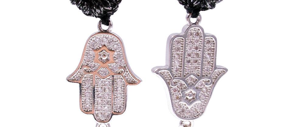 """Zirconia """"Fatima Hand"""" Earrings"""