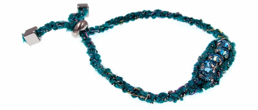 Amelie Jewelry Crystal Friendship Bracelet Green