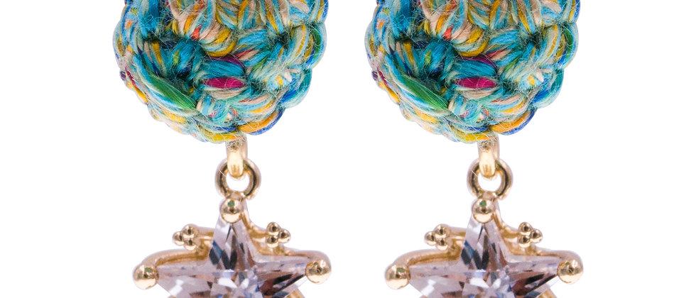 Amelie Jewelry Zillah Earrings Green
