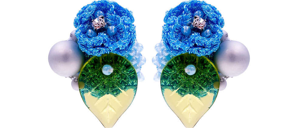 Eleanor Earrings Blue