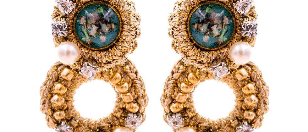 Amelie Jewelry Galilee Earrings Blue