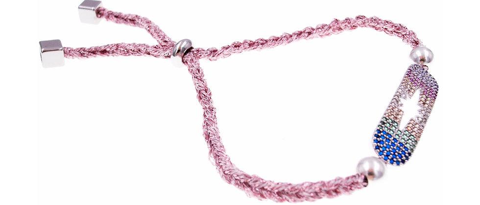 """Amelie Jewelry Zirconia """"Rainbow Star"""" Friendship Bracelet"""